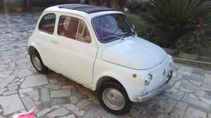 1971 Fiat 500 L white with red interior For Sale
