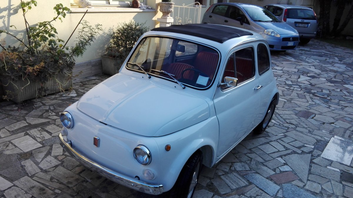 1971 Fiat 500 L white with red interior For Sale (picture 2 of 10)