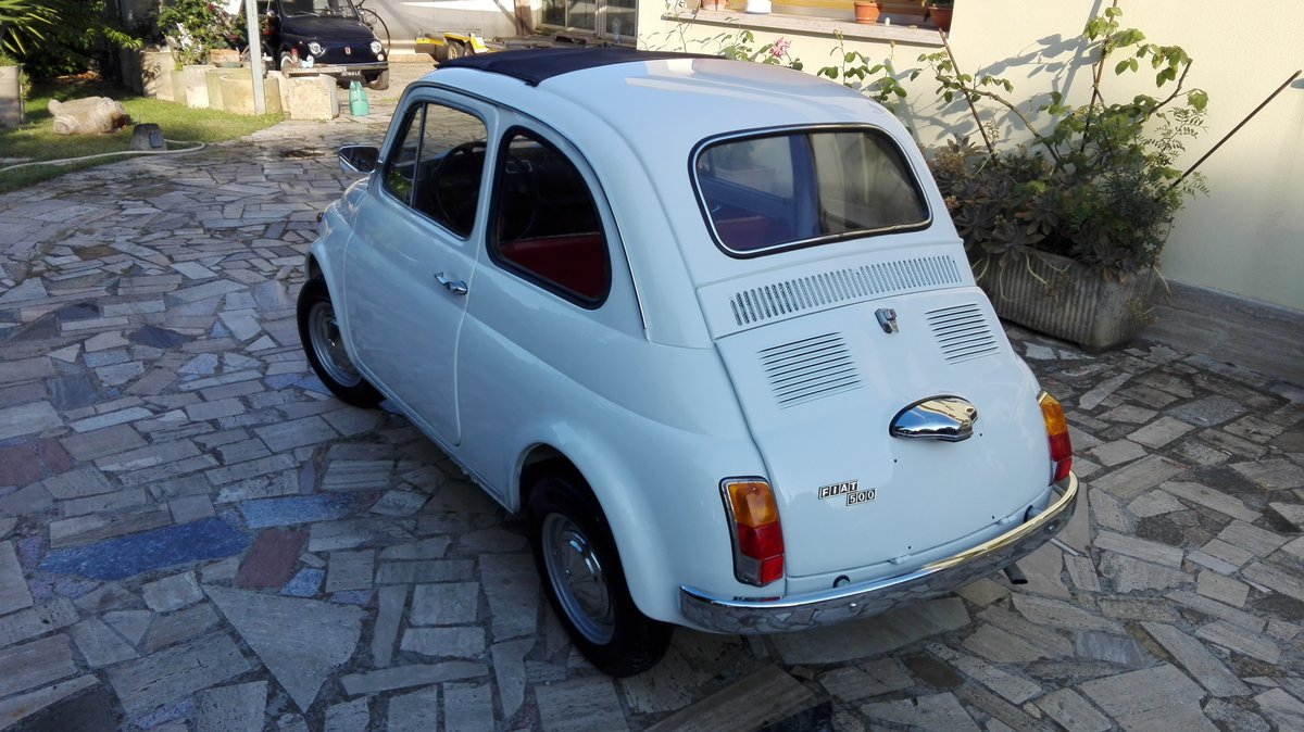 1971 Fiat 500 L white with red interior For Sale (picture 3 of 10)