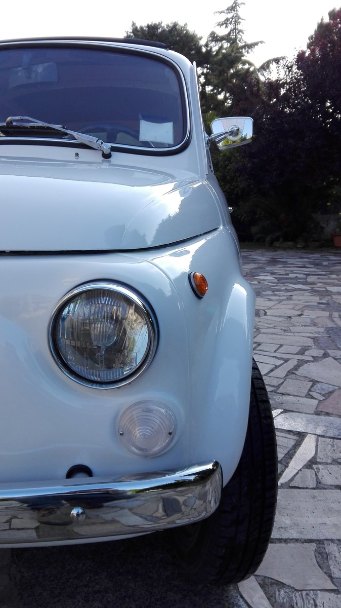 1971 Fiat 500 L white with red interior For Sale (picture 7 of 10)