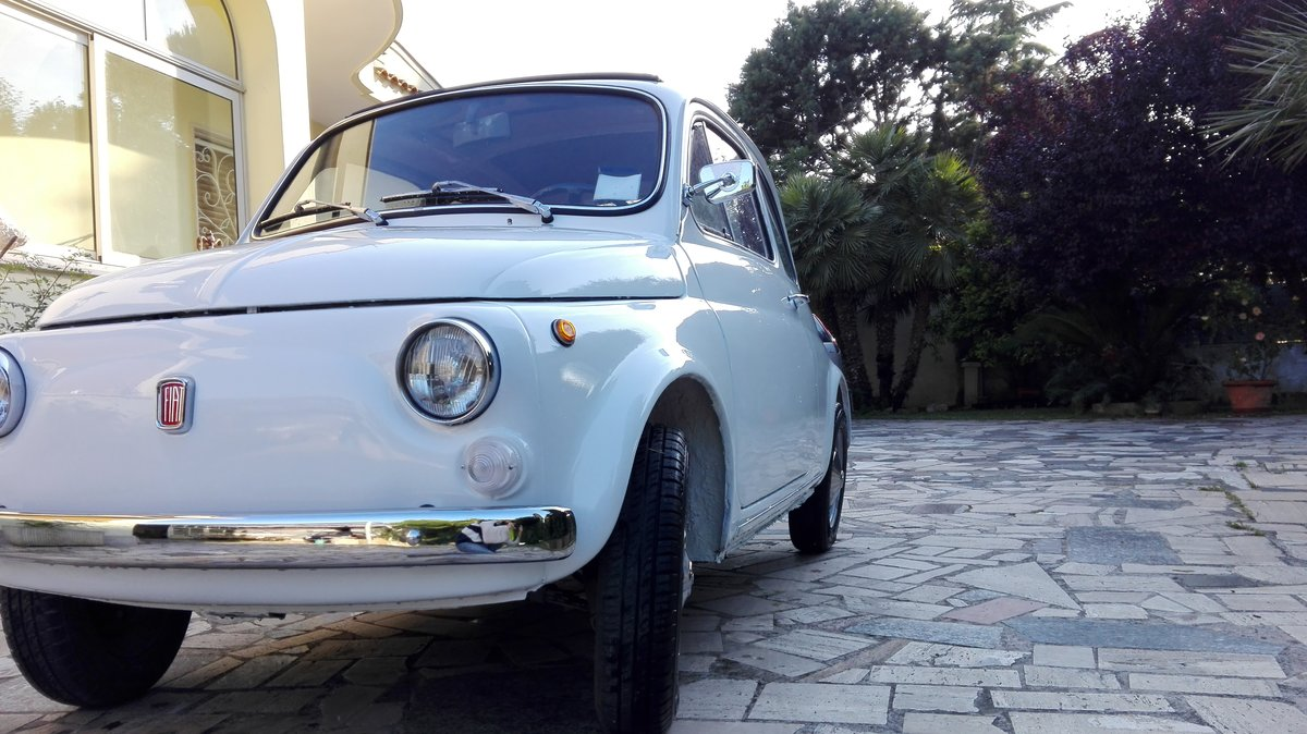 1971 Fiat 500 L white with red interior For Sale (picture 8 of 10)