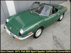 1971 Fiat 850 Sport Spyder Convertible Go Green $7.9k For Sale