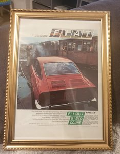 1970 Original Fiat 850 Coupé Advert
