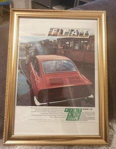 1970 Original Fiat 850 Coupé Advert For Sale