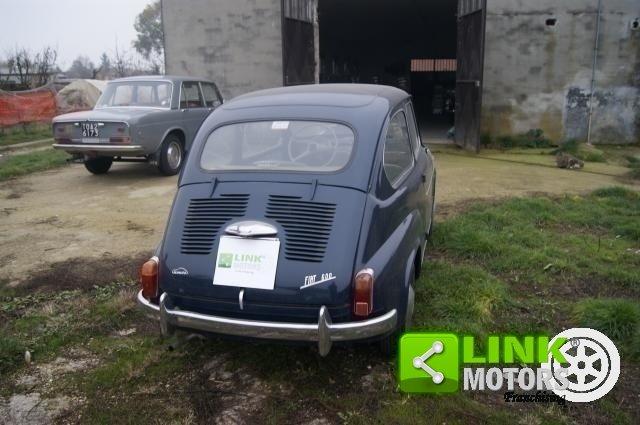 1959 Fiat 600 PRIMA SERIE VETRI DISCENDENTI FRENI A DISCO ANTERI For Sale (picture 3 of 6)
