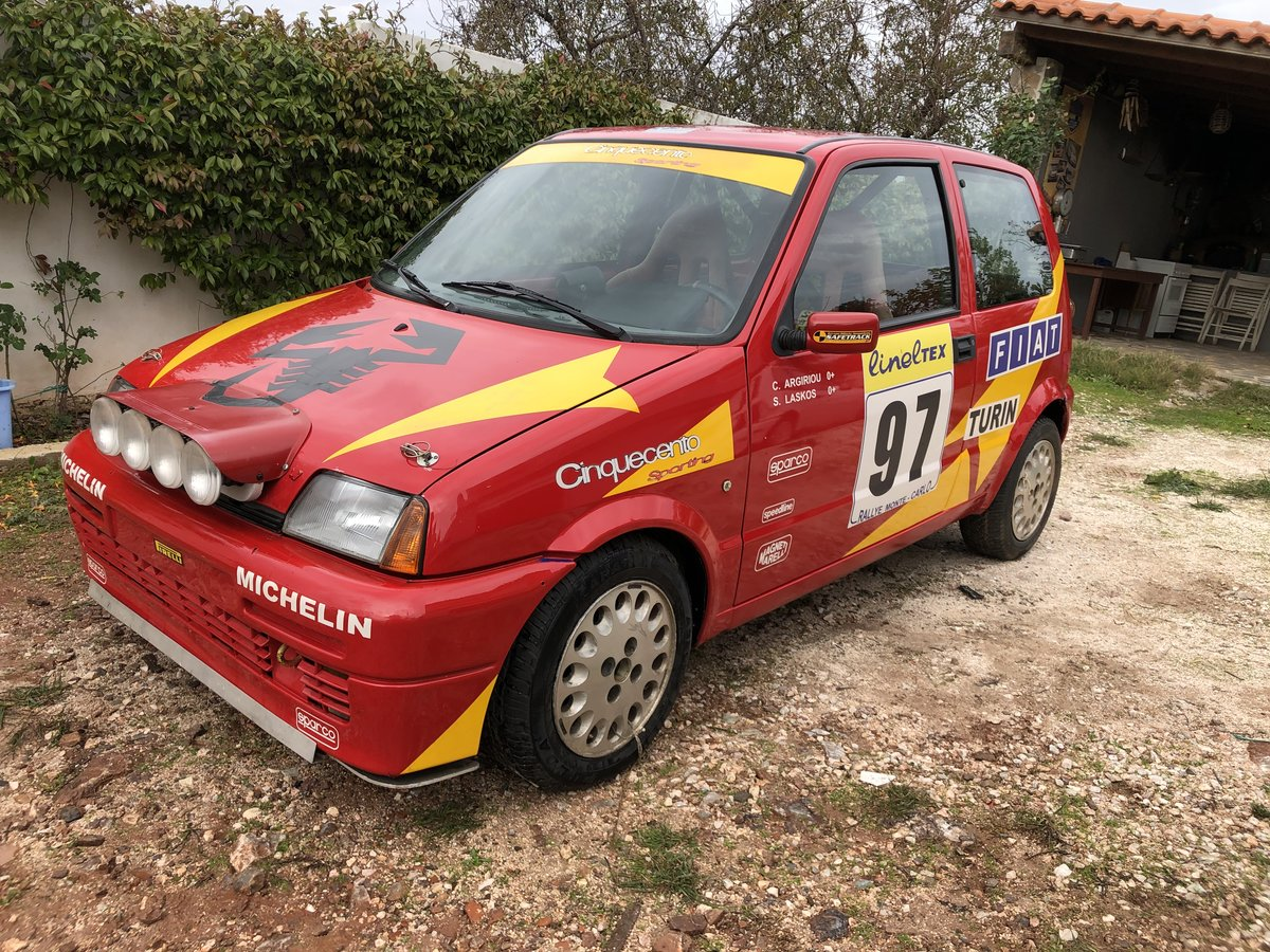 1996 Fiat Cinquecento Abarth Original trofeo rally car For Sale (picture 1 of 5)