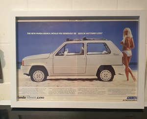 1985 Fiat Panda Framed Advert Original