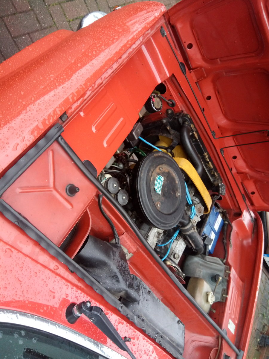 1974 Fiat 124 sports coupe orange For Sale (picture 3 of 5)