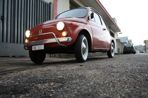 1972 Fiat 500 L Orange with tow hitch - Never restored SOLD