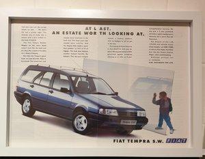 Picture of 1992 Fiat Tempra Framed Advert Original