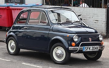 1968 Fiat 500 Cabriolet a clean and solid blue driver $19.9k