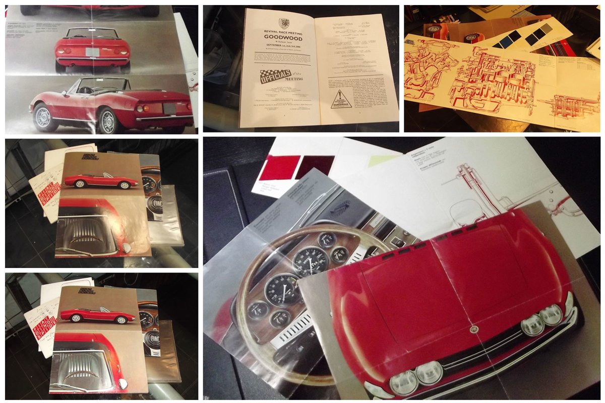 0000 Fiat 500, 124 DINO AND BARCHETTA MEMORABILIA For Sale (picture 5 of 6)