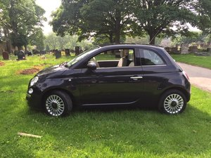 Fiat 500 1.2 Lounge - only 44k, panoramic, Black
