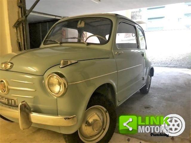 FIAT SEICENTO CABRIO TRASFORMABILE CELESTE 1957 OTTIMO STAT For Sale (picture 1 of 6)