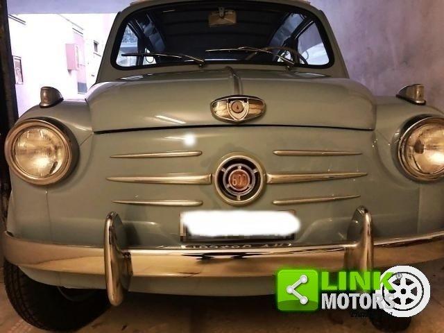 FIAT SEICENTO CABRIO TRASFORMABILE CELESTE 1957 OTTIMO STAT For Sale (picture 2 of 6)