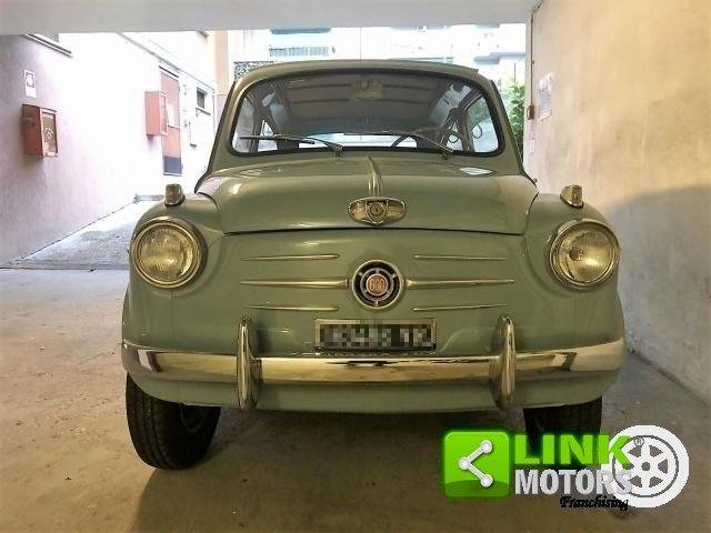 FIAT SEICENTO CABRIO TRASFORMABILE CELESTE 1957 OTTIMO STAT For Sale (picture 3 of 6)