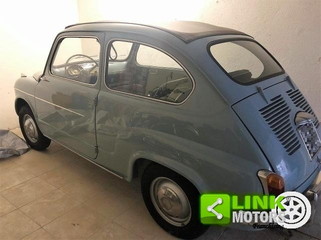 FIAT SEICENTO CABRIO TRASFORMABILE CELESTE 1957 OTTIMO STAT For Sale (picture 4 of 6)