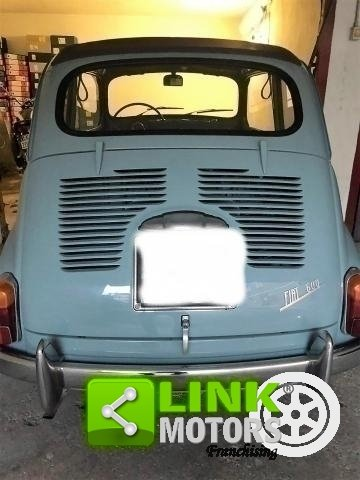 FIAT SEICENTO CABRIO TRASFORMABILE CELESTE 1957 OTTIMO STAT For Sale (picture 5 of 6)