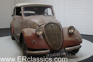 Barnfind 6-cyl NSU-Fiat 1500 Gläser Cabriolet 1938