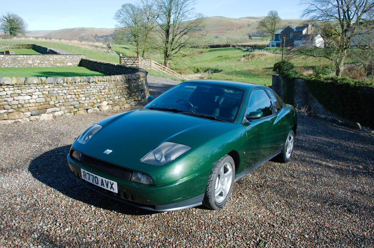 1998 Fiat Coupé 20V Turbo, scots green, one owner SOLD (picture 1 of 6)