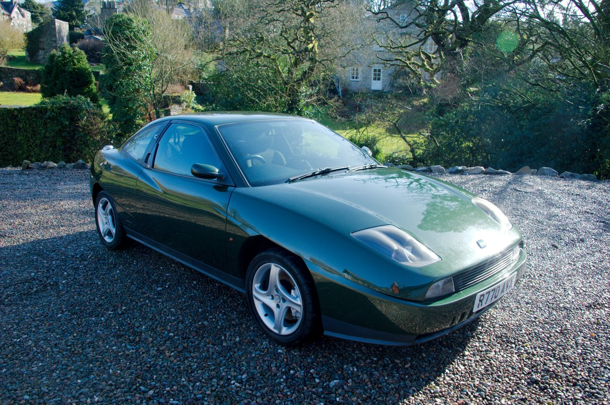 1998 Fiat Coupé 20V Turbo, scots green, one owner SOLD (picture 2 of 6)