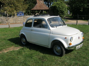 1972 FIAT 500L. FANTASTIC RESTORATION. PEARLESCENT WHITE For Sale