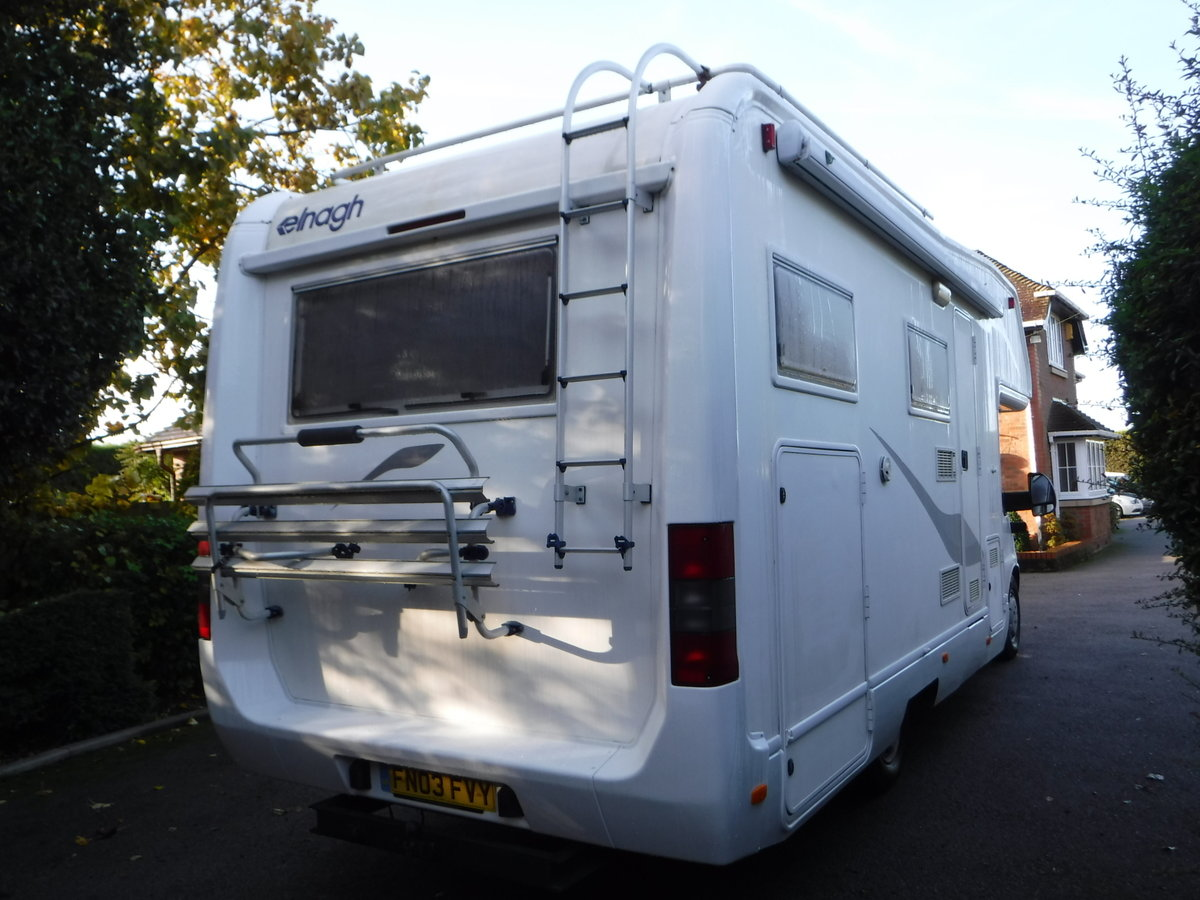 2003  6 Belted Seats Elnagh Joxy 6 Berth Motorhome with garage SOLD (picture 3 of 6)