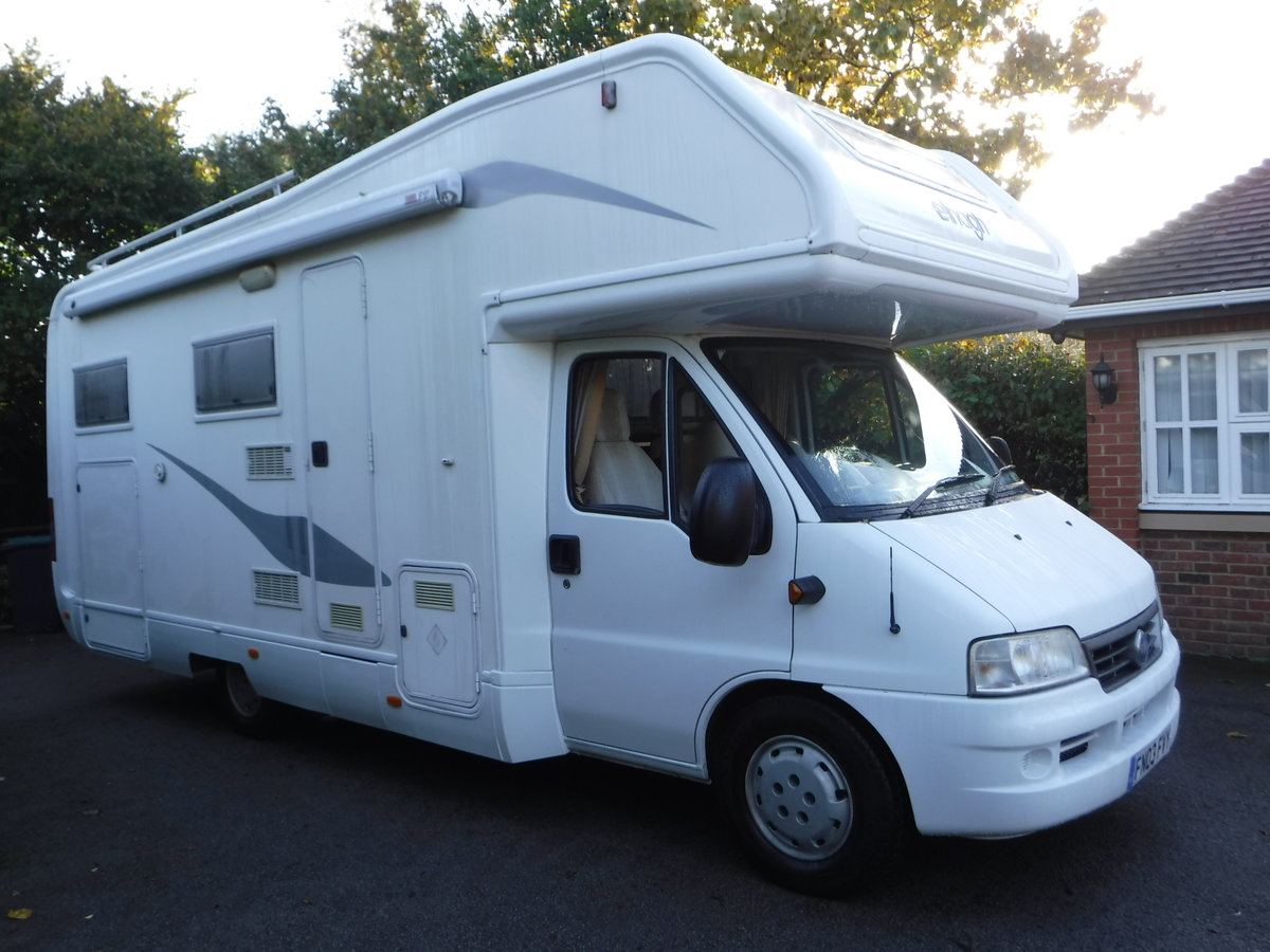 2003  6 Belted Seats Elnagh Joxy 6 Berth Motorhome with garage SOLD (picture 1 of 6)