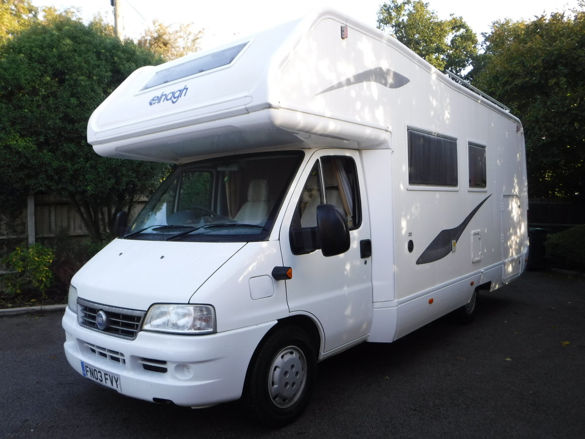2003  6 Belted Seats Elnagh Joxy 6 Berth Motorhome with garage SOLD (picture 2 of 6)