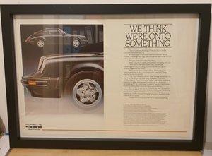 Original 1980 Porsche 911 Framed Advert