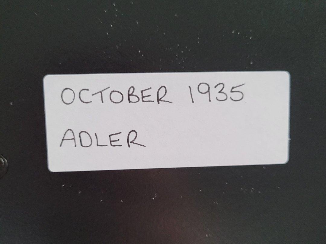 1975 Original 1935 Adler Framed Advert  For Sale (picture 2 of 3)