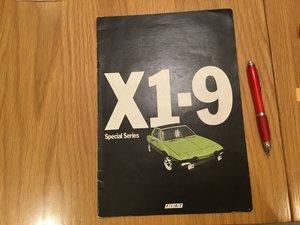 Fiat X 1-9 brochure