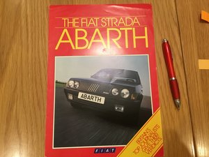 Picture of 1985 Fiat Strada Abarth brochure For Sale