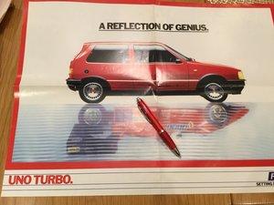 Fiat UNO Turbo poster