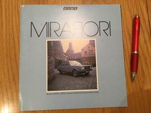 Picture of 1983 Fiat Mirafiori brochure For Sale