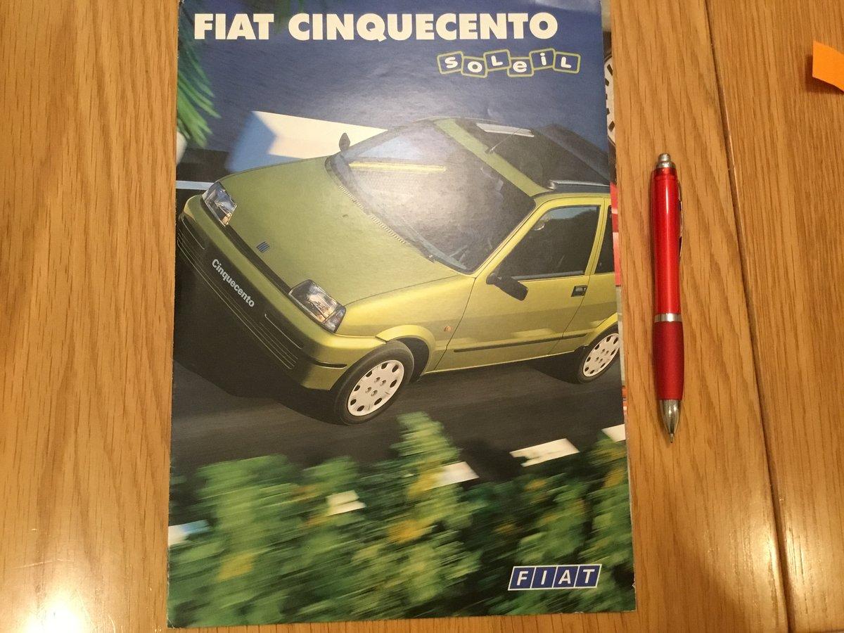 1996 Fiat Cinquecento brochure For Sale (picture 1 of 1)