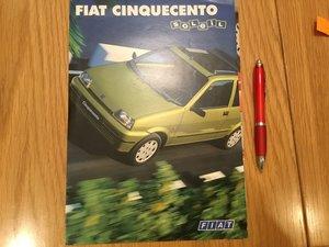 Picture of 1996 Fiat Cinquecento brochure
