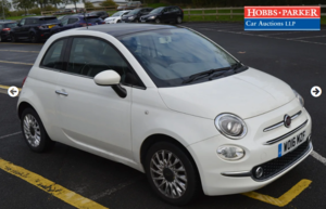2016 Fiat 500 Lounge 41,569 miles for auction 25th