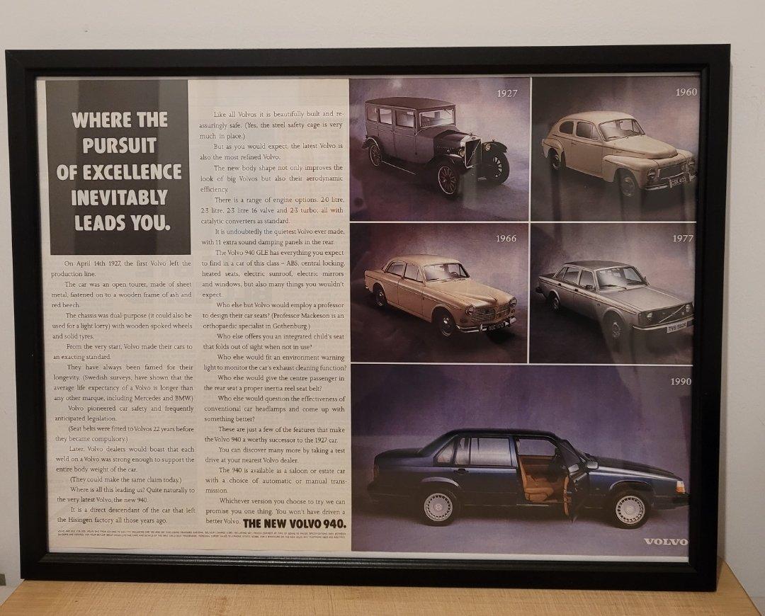 Picture of 1985 Original 1990 Volvo 940 Framed Advert