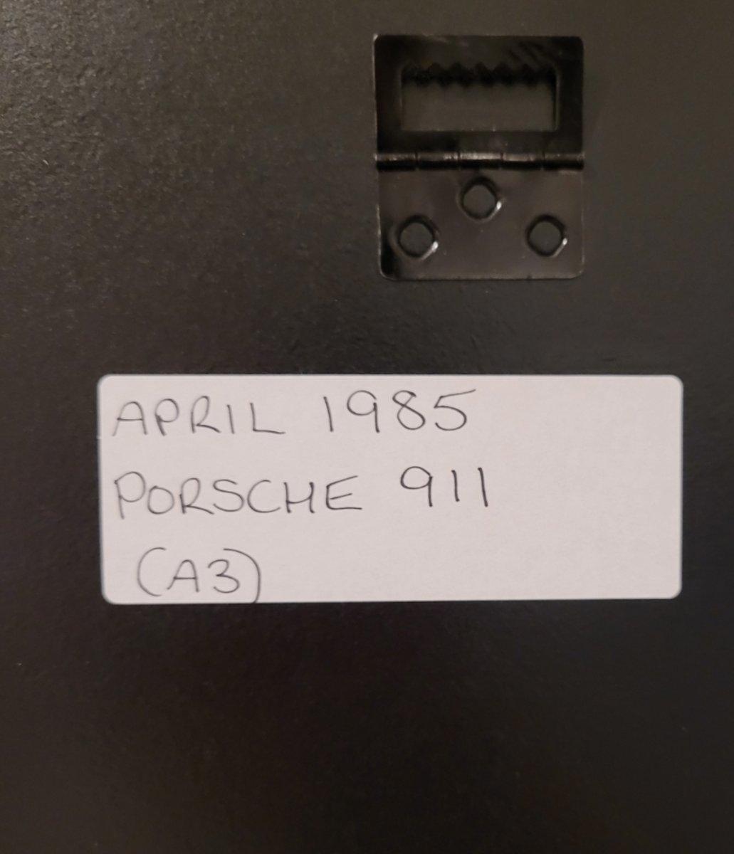 1965 Original 1985 Porsche 911 Framed Advert For Sale (picture 2 of 3)