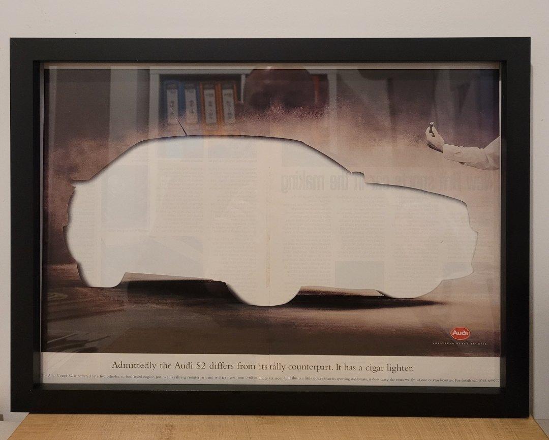 Picture of 1984 Original 1998 Audi S2 Framed Advert