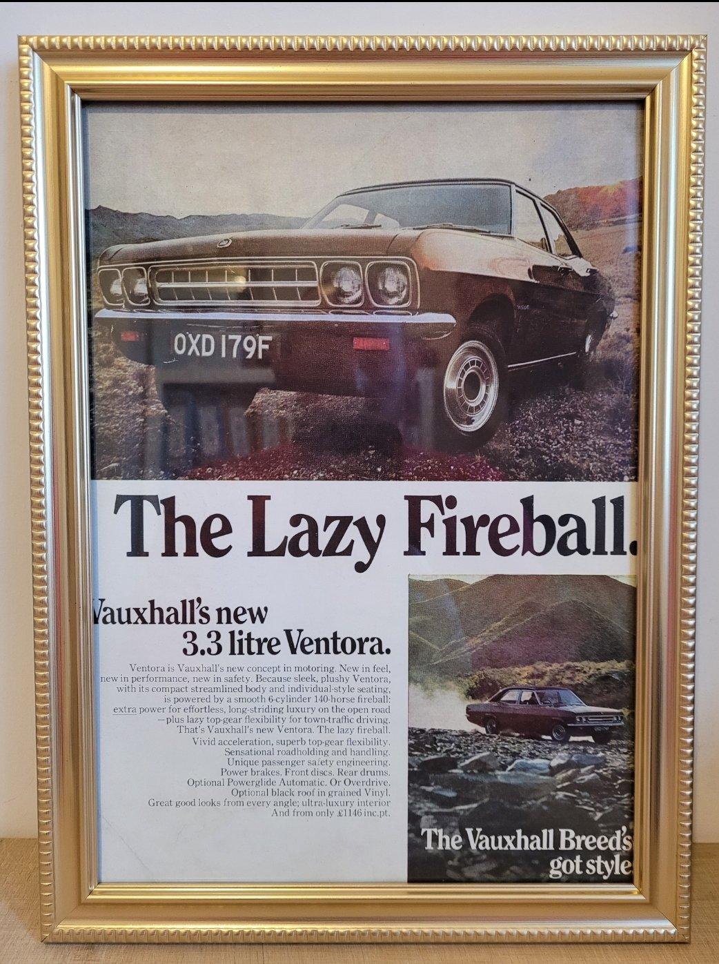 Picture of 1967 Original 1968 Vauxhall Ventora Framed Advert