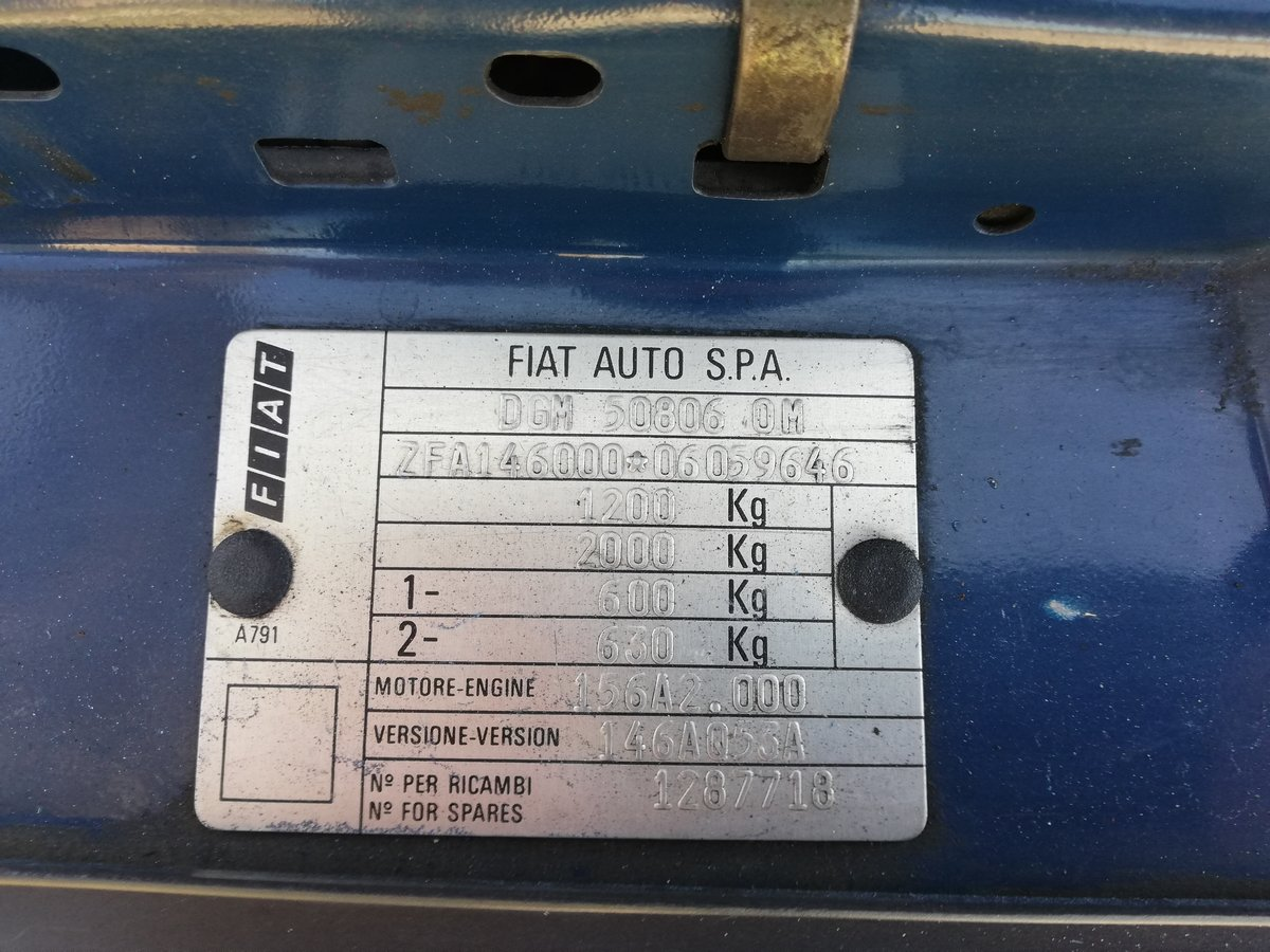 1989 FIAT UNO 45 S 75.000 KMS For Sale (picture 12 of 12)