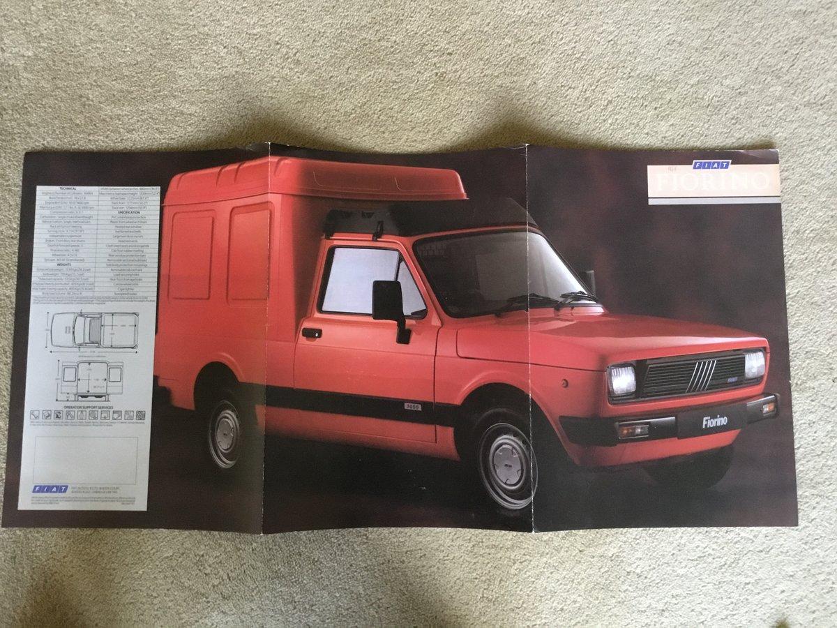 1988 Fiat Fiorino Van brochure For Sale (picture 1 of 2)