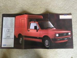 Picture of 1988 Fiat Fiorino Van brochure For Sale