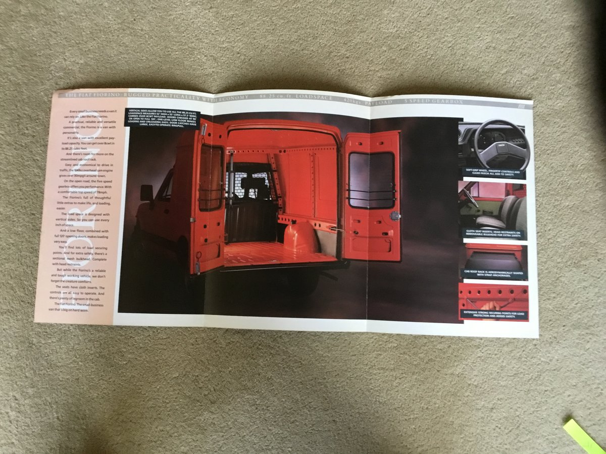 1988 Fiat Fiorino Van brochure For Sale (picture 2 of 2)