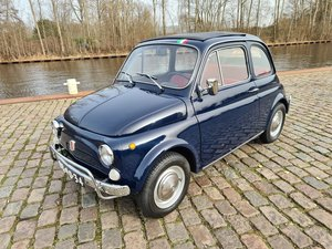 Picture of Fiat 500 luxury 1971 dark blue.    8950 euro For Sale