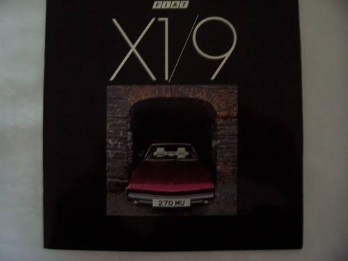 1982 FIAT X 1/9 COLOUR SALES BROCHURE For Sale (picture 1 of 6)