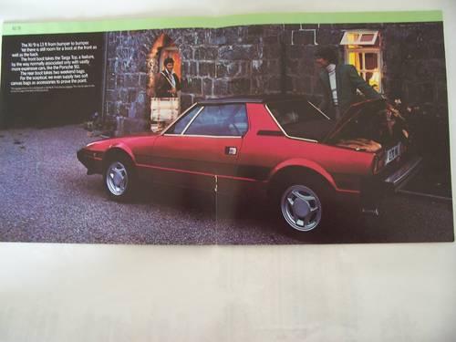 1982 FIAT X 1/9 COLOUR SALES BROCHURE For Sale (picture 5 of 6)