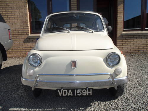 1969 Totally Original Fiat 500L For Sale (picture 2 of 6)